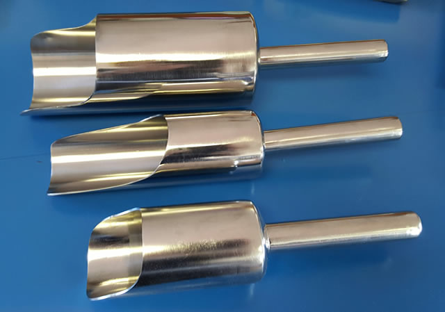 Stainless Steel liquid and solids transfer scoops